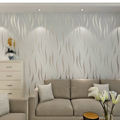 Papel Pintado Para Paredes Fresco Papel De Pared Decorativo Pintado Color Gris Plata Of 30  Encantador Papel Pintado Para Paredes