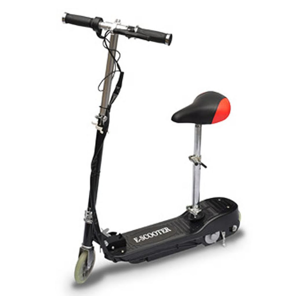 scooter negro electrico con asiento 120w