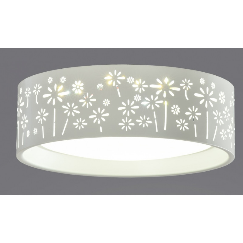 Plafon Led Mando A Distancia Fresco Plafón De Metal Con Flores Grabadas Dimable Con Mando A Of Plafon Led Mando A Distancia Adorable Lámparas Led Con Mando A Distancia Calidad Y Diseño