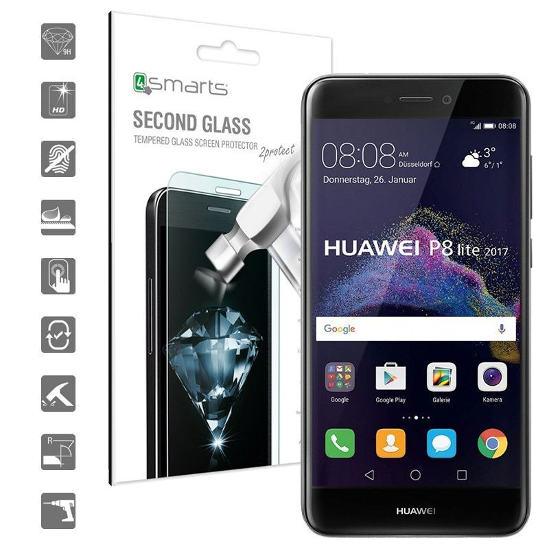 Protector Huawei P8 Lite 2017 Increíble Huawei P8 Lite 2017 4smarts Second Glass Screen Protector Of 44  Lujo Protector Huawei P8 Lite 2017
