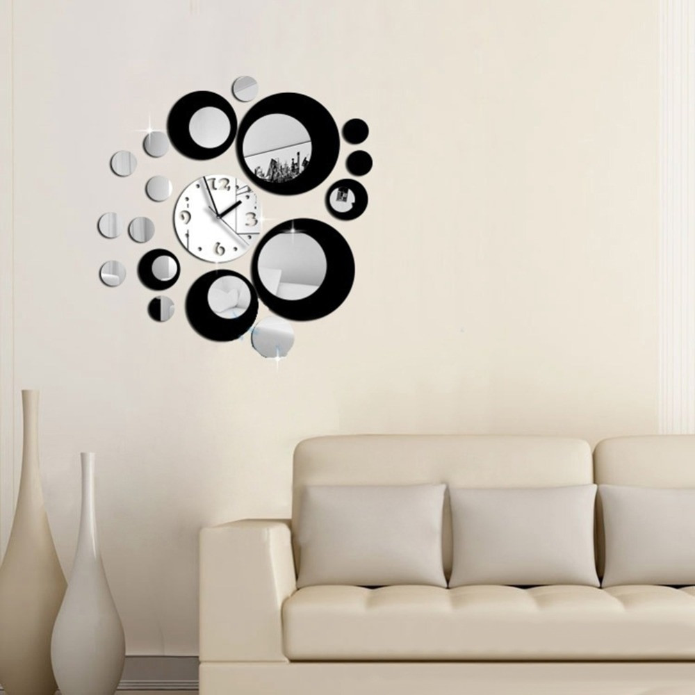 Relojes De Pared Modernos Para Salon Gran Aliexpress Buy Modern Circles Acrylic Mirror Style Of 46  Arriba Relojes De Pared Modernos Para Salon
