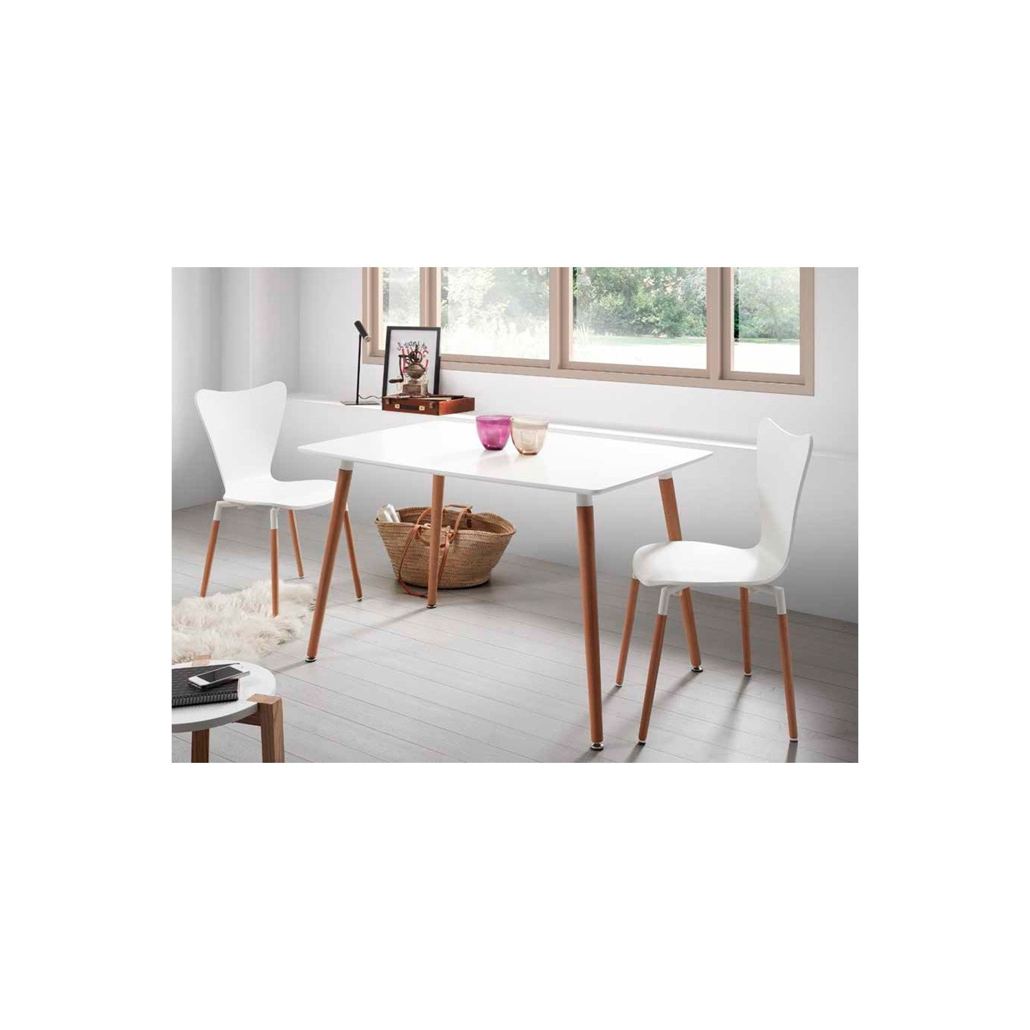 Sillas Comedor Estilo nordico Increíble Edor De Estilo nordico En Color Blanco Of 40  Adorable Sillas Comedor Estilo nordico