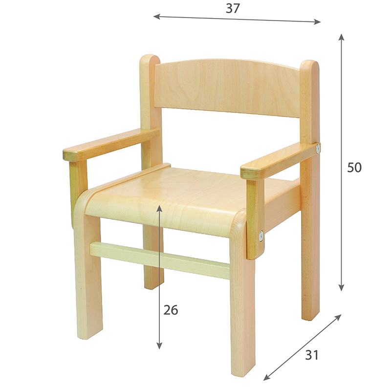children s furniture solid beech wood child chair children s chairs with armrests natural varnish kid chair