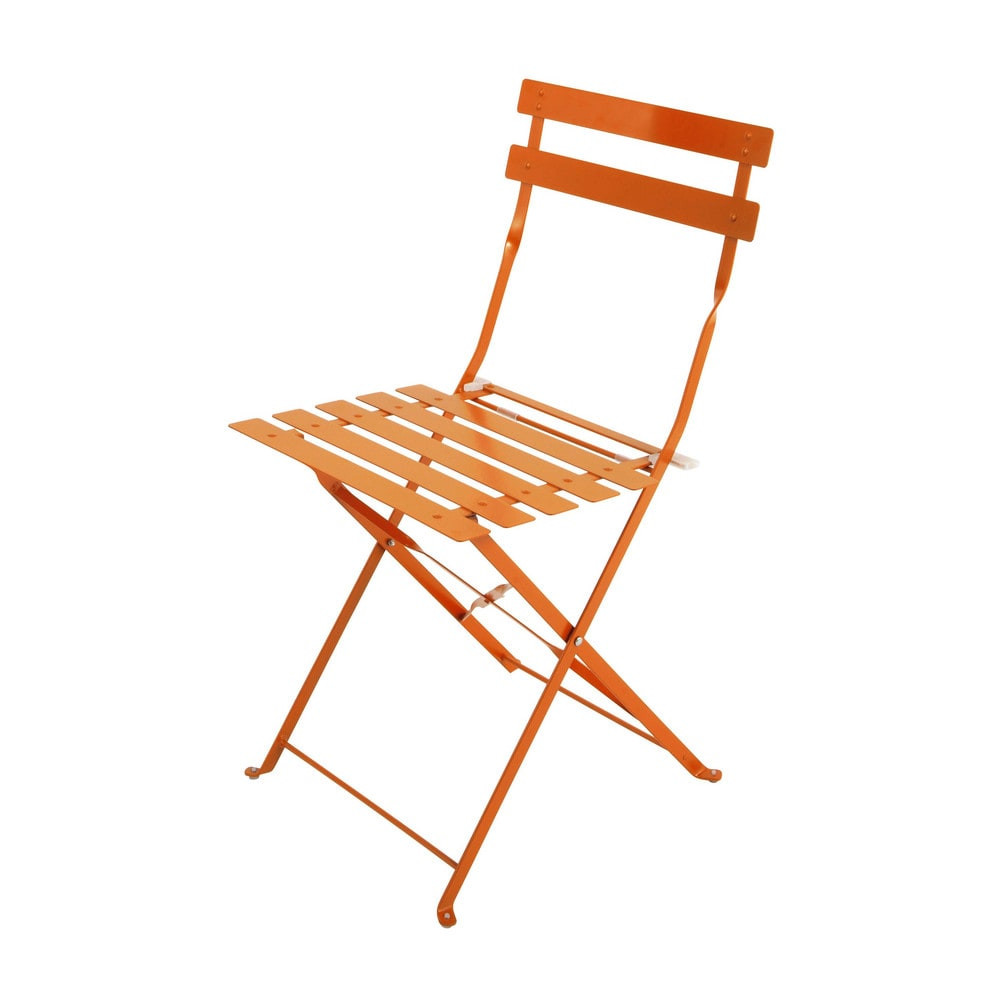 Sillas De Jardin Plegables Encantador 2 Metal Folding Garden Chairs In orange Guinguette Of 41  Gran Sillas De Jardin Plegables