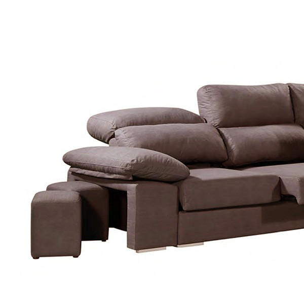 Sofa 3 Plazas Chaise Longue Innovador sofá Chaise Longue Júcar Tres Plazas Reclinable Marrón Of 37  atractivo sofa 3 Plazas Chaise Longue