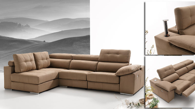 Sofa 3 Plazas Chaise Longue Innovador sofa De 3 Plazas Y Chaise Longue Con Relax toscana Kiona Of 37  atractivo sofa 3 Plazas Chaise Longue