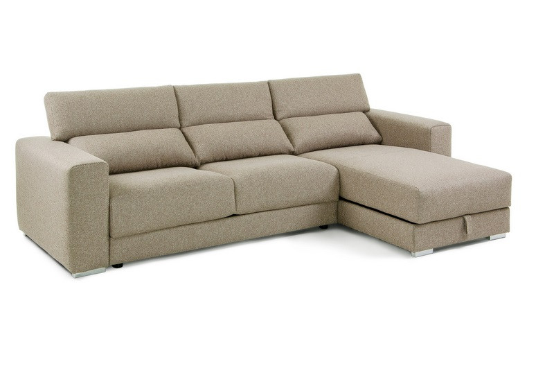Sofa 3 Plazas Chaise Longue Magnífico sofa Cama Pocket Beige Con Colchon Of 37  atractivo sofa 3 Plazas Chaise Longue