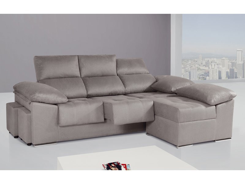 Sofa Chaise Longue 4 Plazas Increíble sofá De 3 Plazas Con Módulo Chaise Longue Partido Y Puff Of 47  Único sofa Chaise Longue 4 Plazas