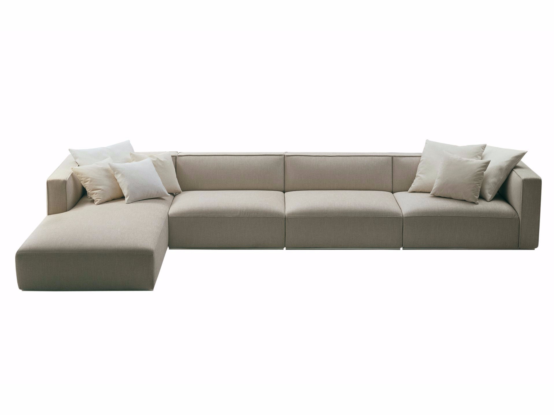 shangai sectional fabric sofa with removable cover with chaise longue shangai sofa with chaise longue poliform