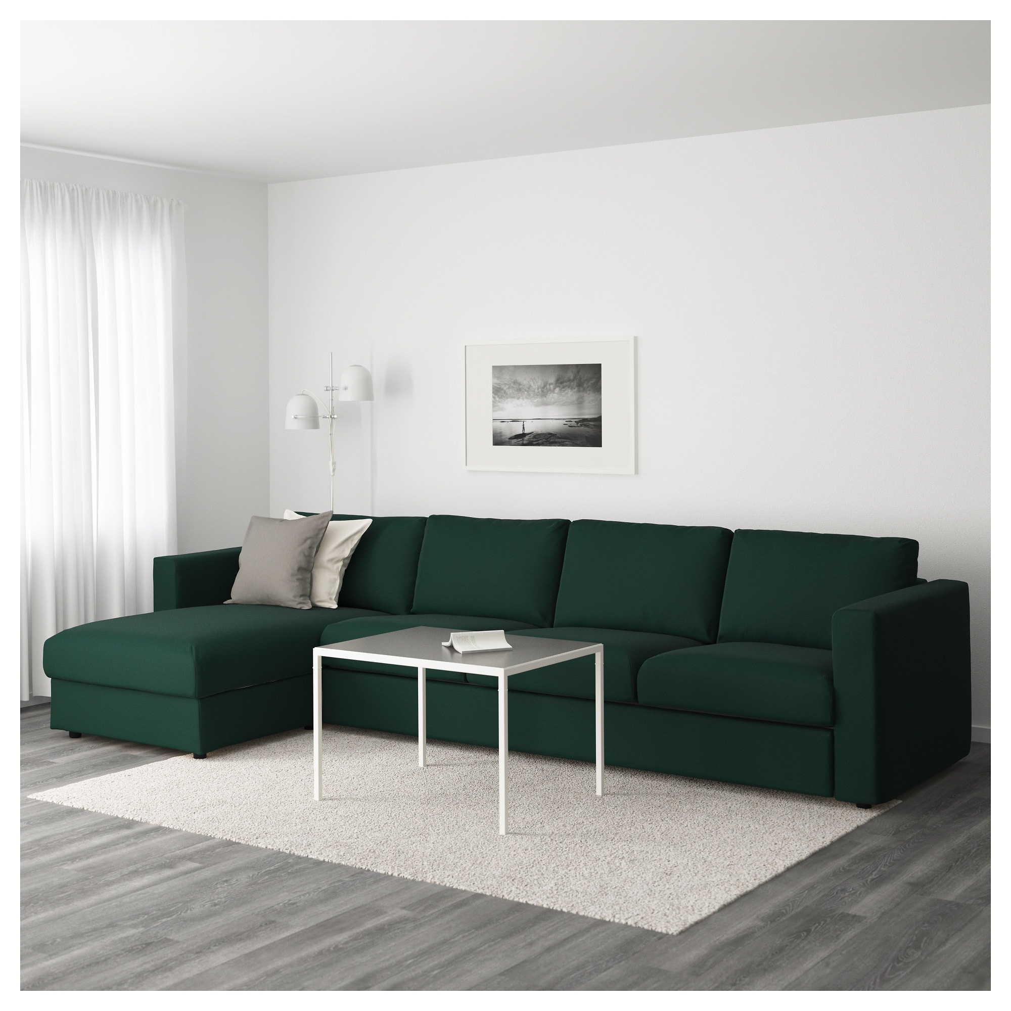 Sofas 5 Plazas Chaise Longue Perfecto Vimle 4 Seat sofa with Chaise Longue Gunnared Dark Green Of Sofas 5 Plazas Chaise Longue Arriba sofás 4 Plazas Con Chaise Longue