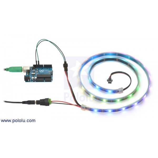Tira De Led Rgb Fresco Tira De Led Rgb Indexable 1m Ws2812b Of 40  Magnífico Tira De Led Rgb