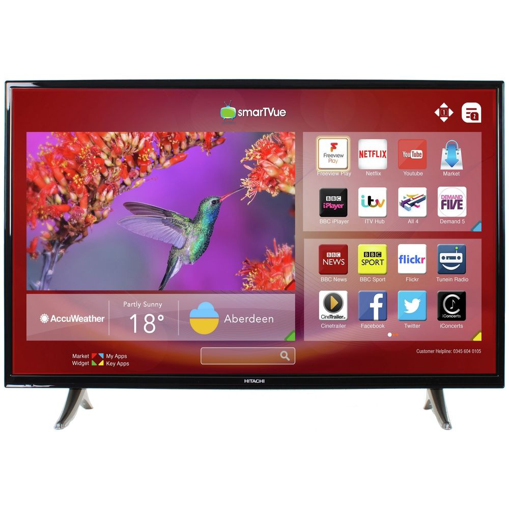 Tv 43 Smart Tv Gran Hitachi 43 Inch Freeview Play Smart Led Tv From the Of 37  Mejor Tv 43 Smart Tv