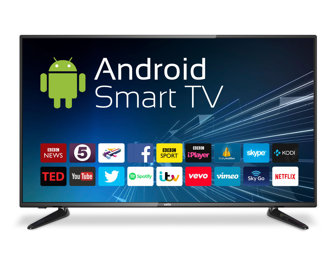 43 android smart led tv wi fi freeview t2 hd