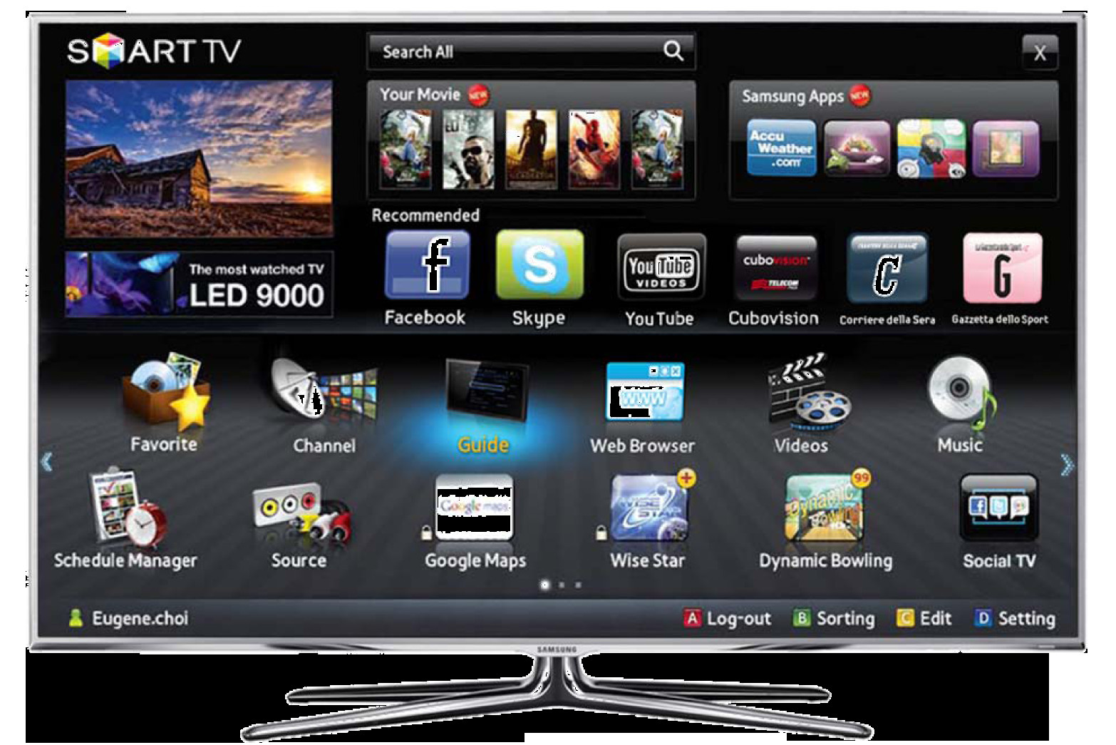 Tv Con Smart Tv Fresco Samsung Smart Tv Un Intero Mondo Nel Tv Le Tecnoguide Of 40  Gran Tv Con Smart Tv
