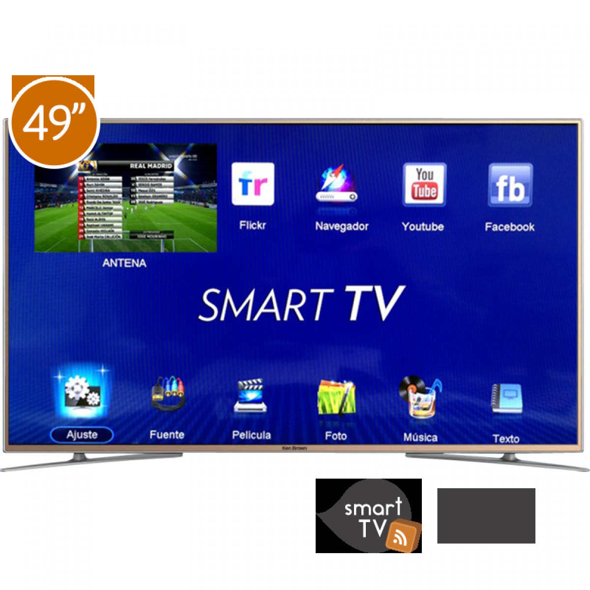 Tv Con Smart Tv Lujo Tv Smart Smart Tv 49 Ken Brown Kb2280 Fhd En Cetrogar Of 40  Gran Tv Con Smart Tv