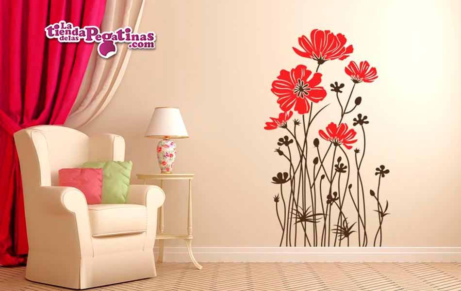 Vinilos Decorativos De Pared Adorable Vinilo Decorativo Flores Amapolas Of 44  Innovador Vinilos Decorativos De Pared