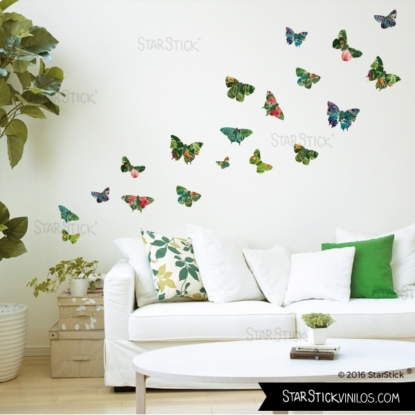 Vinilos Decorativos De Pared Gran Vinilo De Pared Mariposas Tropicales Of 44  Innovador Vinilos Decorativos De Pared