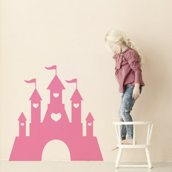 Vinilos Para Pared Infantiles Contemporáneo Vinilo Infantil Castillo Princesa Of 36  Adorable Vinilos Para Pared Infantiles