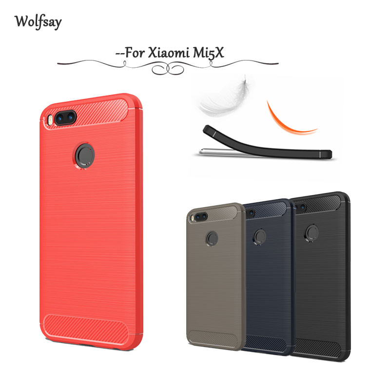 Xiaomi Mi A1 Fundas Fresco Wolfsay Fundas Xiaomi Mi A1 Case Cover soft Tpu Brush Of 31  Encantador Xiaomi Mi A1 Fundas