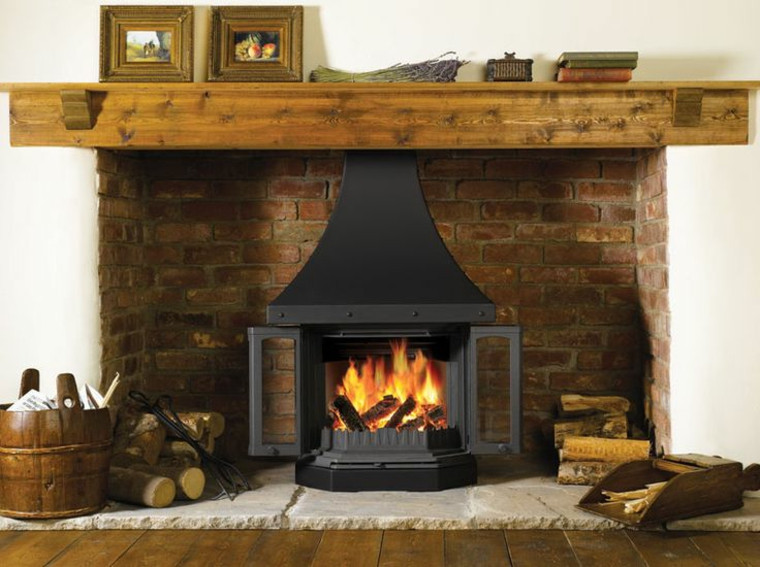 chimeneas rusticas ideas